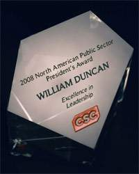 2008 North American Public Sector President's Award