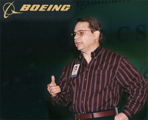 Bill Duncan speaking at Boeing