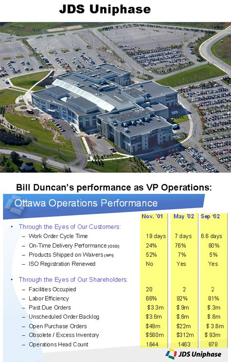 Bill Duncan's Performance as VP