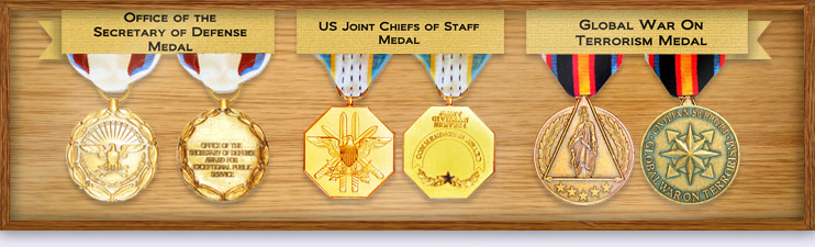 Medals Bill Duncan has received